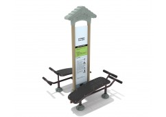 Royal Double Station Sit Up Bench