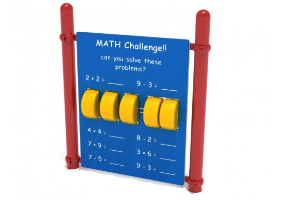 Freestanding Math Panel with Posts