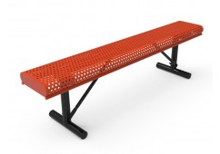 Perforated Steel Rolled Edge Bench without Back