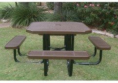 Octagon Portable Picnic Table with Perforated Steel