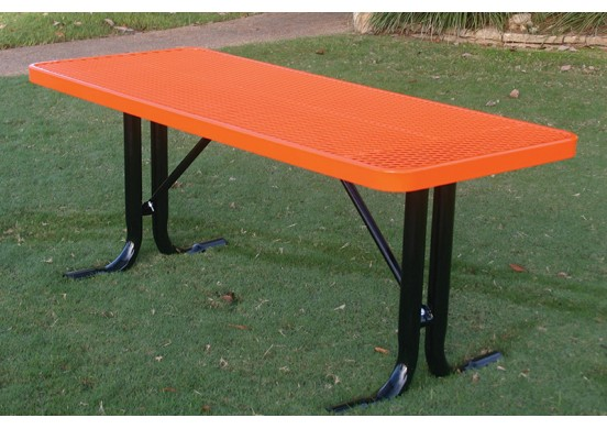 Rectangular Utility Table with Diamond Pattern
