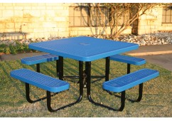 Square Portable Picnic Table with Diamond Pattern