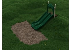 4 Foot Double Straight Embankment Slide