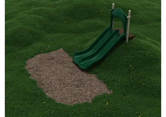 4-Foot Double Straight Embankment Slide
