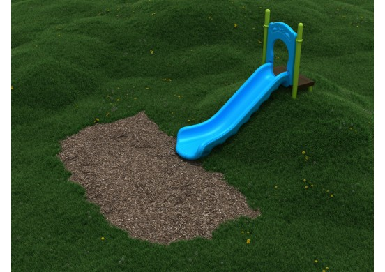 4-Foot Single Straight Embankment Slide