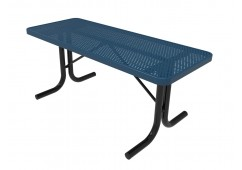 Rectangular Utility Table with Perforated Steel