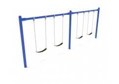 8 feet high Elite Single Post Swing - 2 Bays