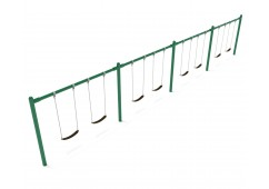 8 feet high Elite Single Post Swing - 4 Bays