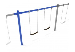 8 feet high Elite Single Post Swing - Add a Bay