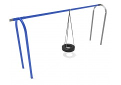 8 feet high Elite Arch Post Tire Swing - Add a Bay