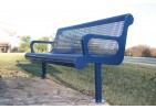 Diamond Pattern Contoured Bench with Arms