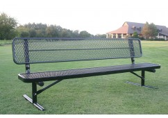 Diamond Pattern Wide Seat Player's Bench with Back