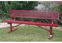 Diamond Pattern Traditional Rectangular Bench with Back