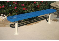 Diamond Pattern Traditional Rectangular Bench without Back
