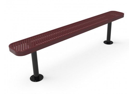 Perforated Steel Traditional Rectangular Bench without Back