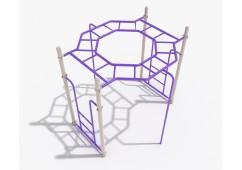 Octagon Straight Rung Horizontal Ladder