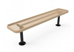 Diamond Pattern Wide Seat Player's Bench without Back