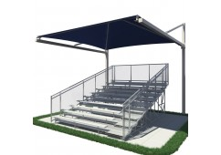 Bleacher Series Suspended Cantilever Fabric Shade