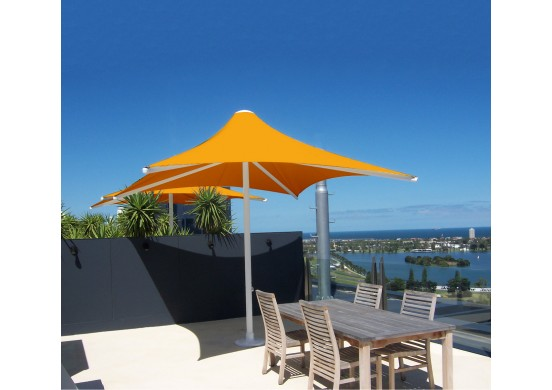 Rectangle Non-Retractable Waterproof Umbrella