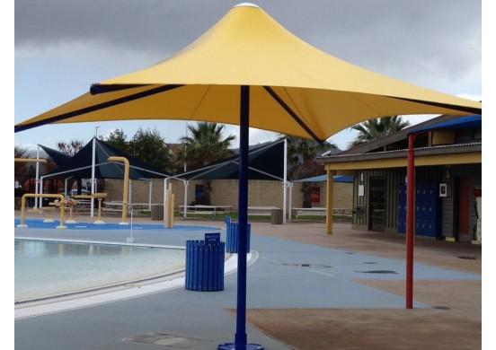 Square Non-Retractable Waterproof Umbrella