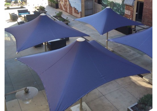 Square Retractable Waterproof Umbrella