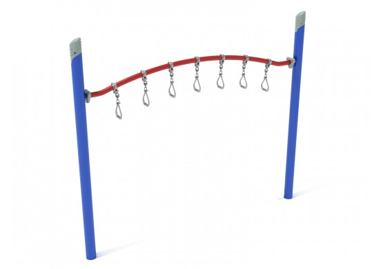 Get Physical Series Curved Overhead Swinging Ring Ladder