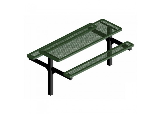 Innovated Double Pedestal Frame Rectangle Picnic Table