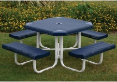 Perforated Portable Frame Octagon Picnic Table