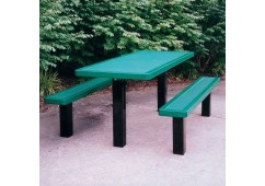 Innovated Pedestal Frame Rectangle Picnic Table
