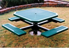 Innovated Single Pedestal Frame Octagon Picnic Table