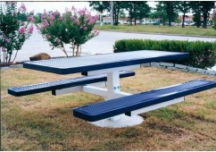 Innovated Single Pedestal Frame Rectangle Picnic Table