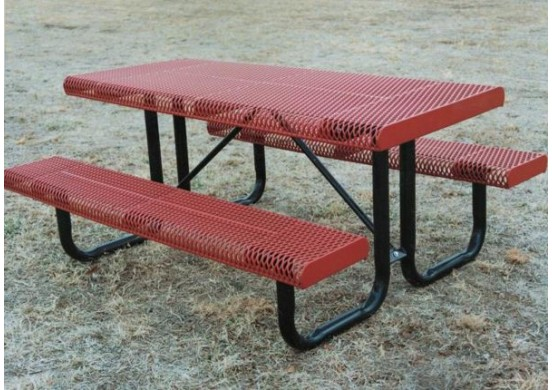 Rolled Portable Frame Rectangle Picnic Table