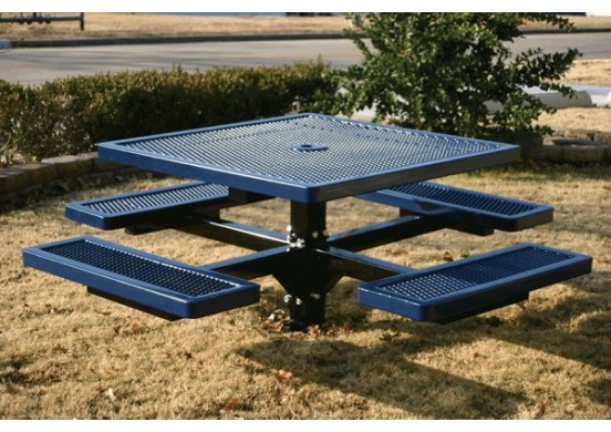 Regal Single Pedestal Frame Square Picnic Table