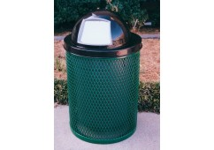 Expanded Steel Trash Receptacle