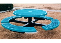 Canteen Single Pedestal Frame Circle Picnic Table