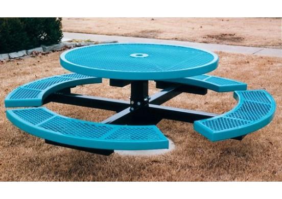 Canteen Single Pedestal Frame Circle Picnic Table