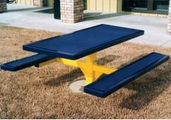 Regal Single Pedestal Frame Rectangle Picnic Table