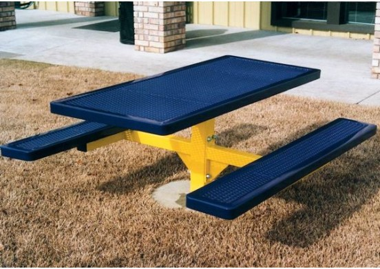 Regal Single Pedestal Frame Rectangle Picnic Table