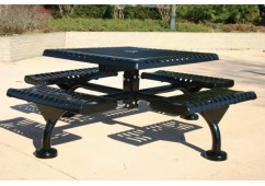 Web Ribbed Web Frame Square Picnic Table