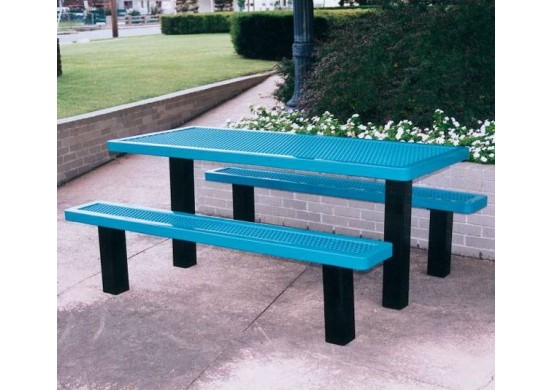 Regal Pedestal Frame Rectangle Picnic Table