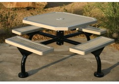 Web Expanded Web Frame Octagon Picnic Table