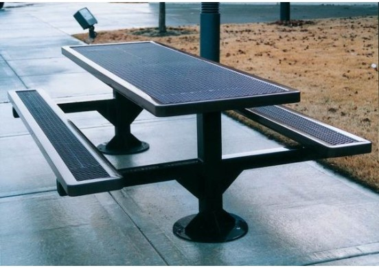 Regal Double Pedestal Frame Rectangle Picnic Table