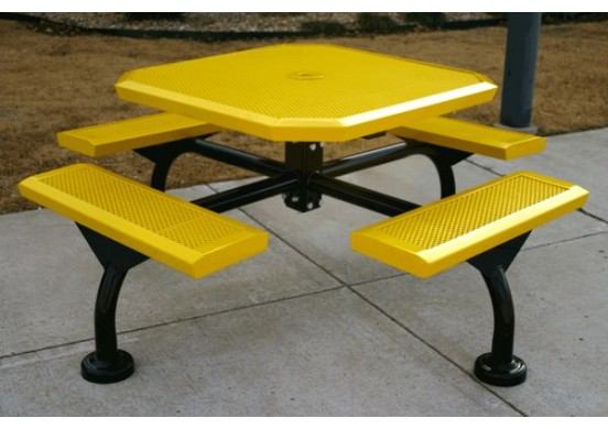 Web Infinity Innovated Perforated Web Frame Octagon Picnic Table