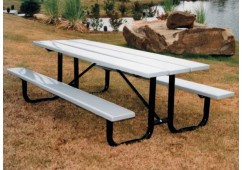 Plasti-Plank Portable Frame Rectangular Picnic Table