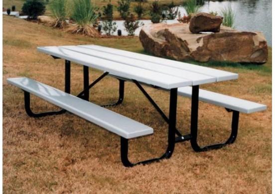 Plasti-Plank Portable Frame Rectangular Picnic Table