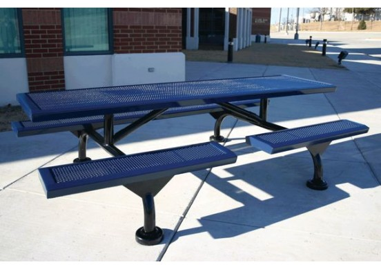 Web Infinity Innovated Perforated Web Frame Rectangle Picnic Table