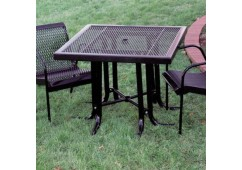 Canteen Expanded Modern Frame Square Picnic Table