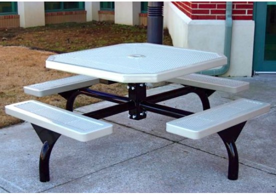 Web Innovated Perforated Web Frame Octagon Picnic Table