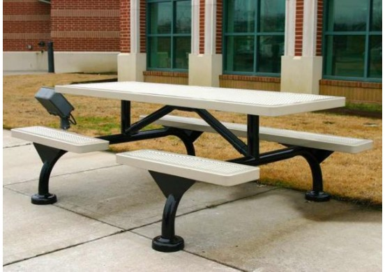 Web Innovated Perforated Web Frame Rectangle Picnic Table