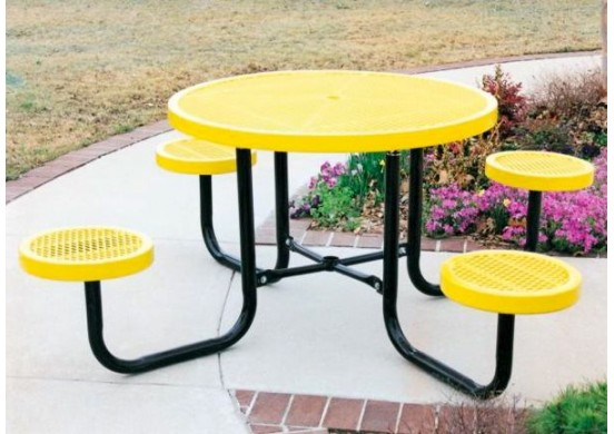 Canteen Portable Frame Circle Seats Circle Picnic Table